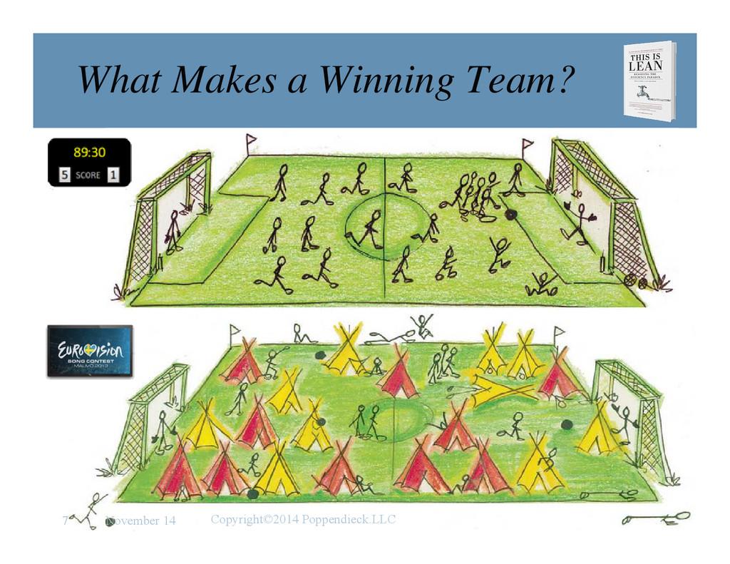 l e a n What Makes a Winning Team? November 14 ...