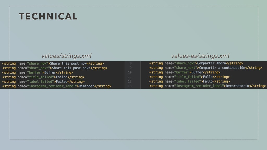 TECHNICAL values/strings.xml values-es/strings....