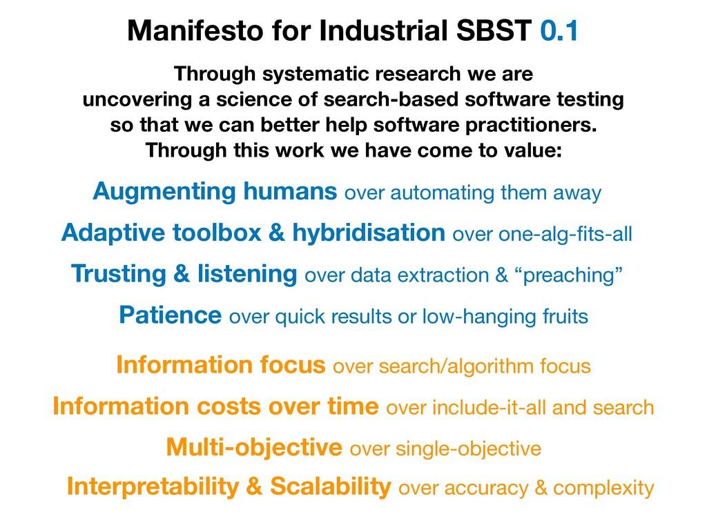 Manifesto for Industrial SBST 0.1 Augmenting hu...