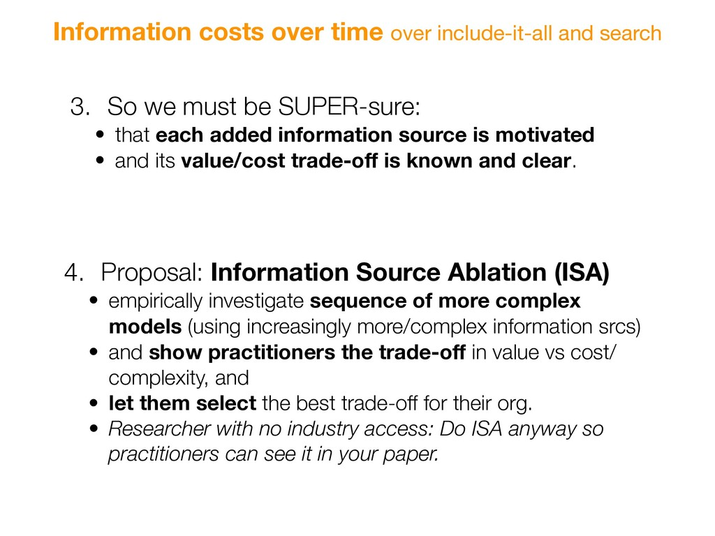 Information costs over time over include-it-all...