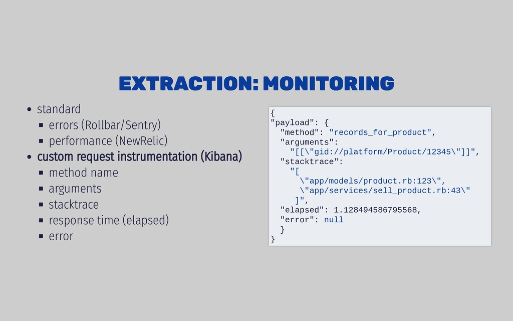 standard errors (Rollbar/Sentry) performance (N...
