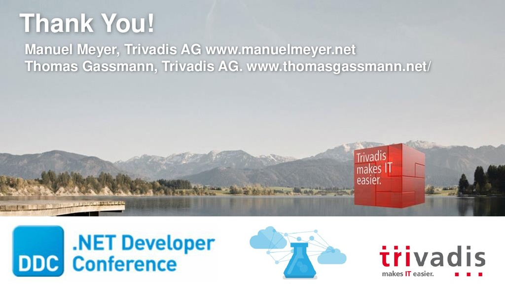Thank You! Manuel Meyer, Trivadis AG www.manuel...