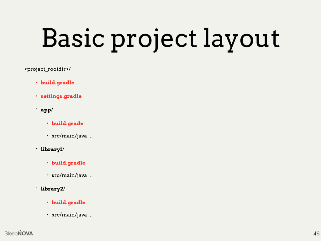 Basic project layout <project_rootdir>/ • build...