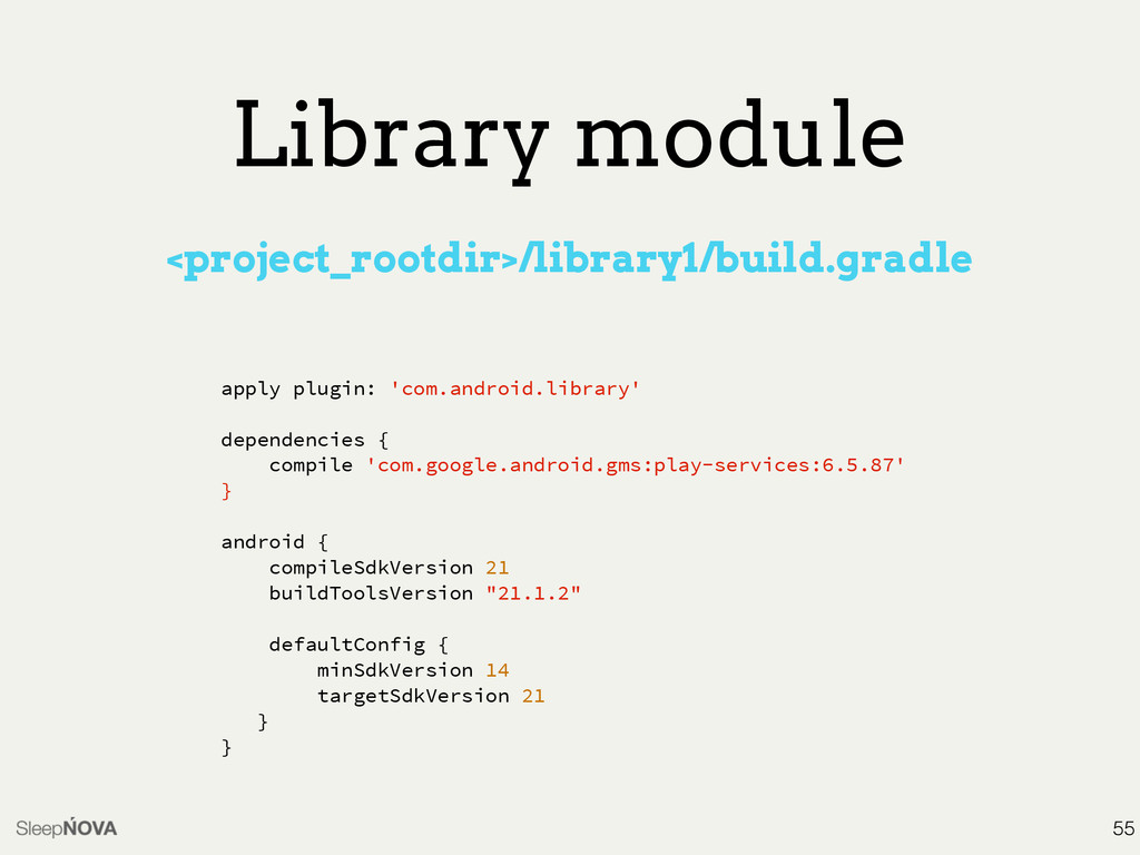 Library module <project_rootdir>/library1/build...