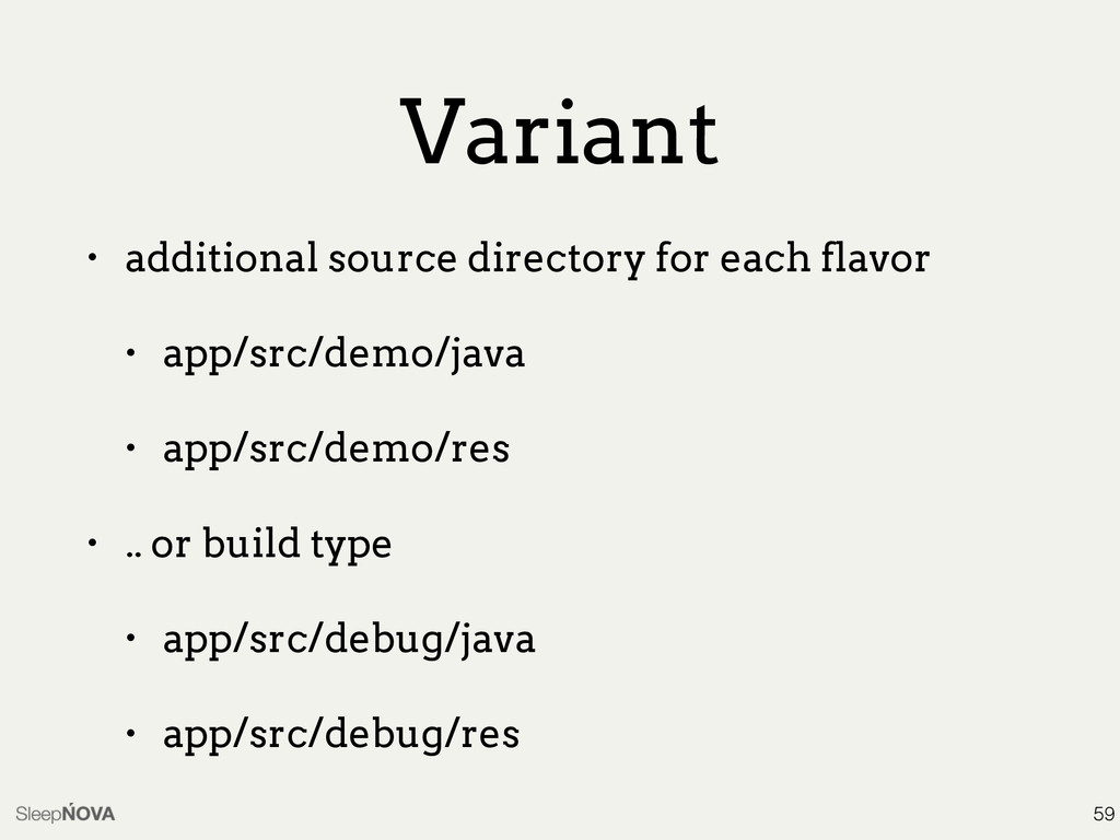 Variant • additional source directory for each ...