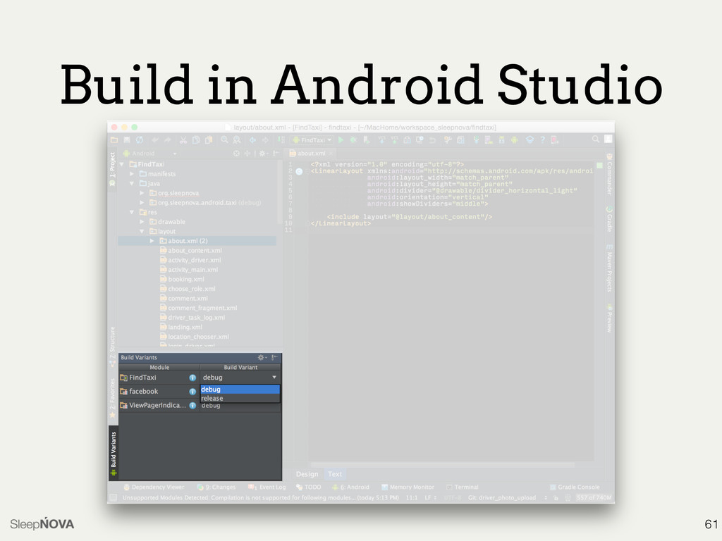 Build in Android Studio 61