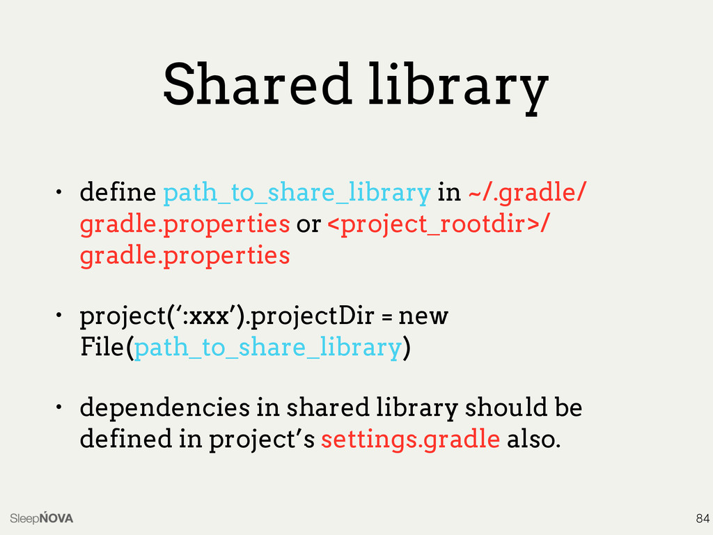 Shared library • define path_to_share_library i...