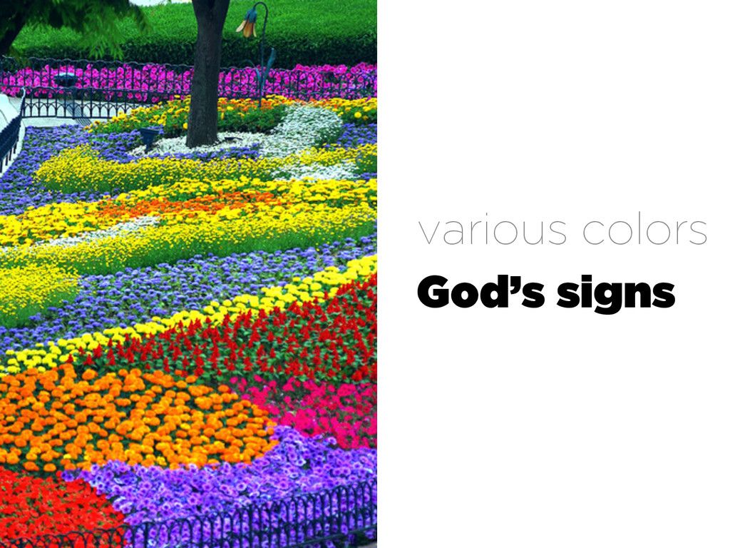 various colors God's signs