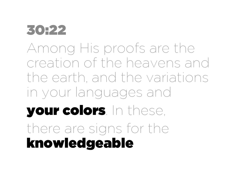 30:22 Among His proofs are the creation of the ...