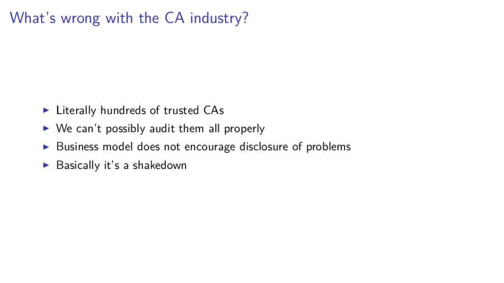 What's wrong with the CA industry? Literally hu...