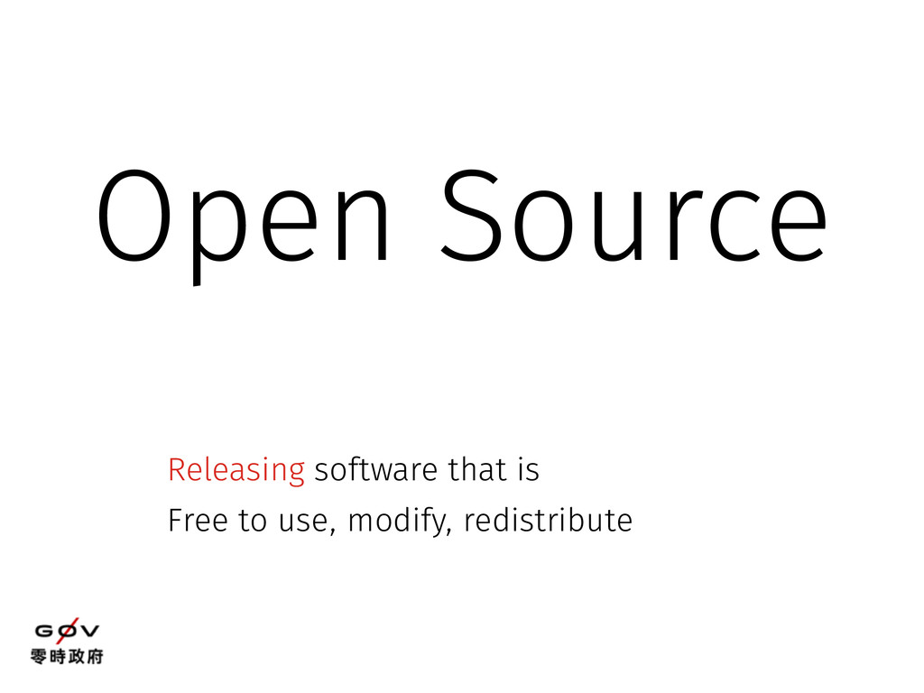 Open Source Releasing software that is Free to ...