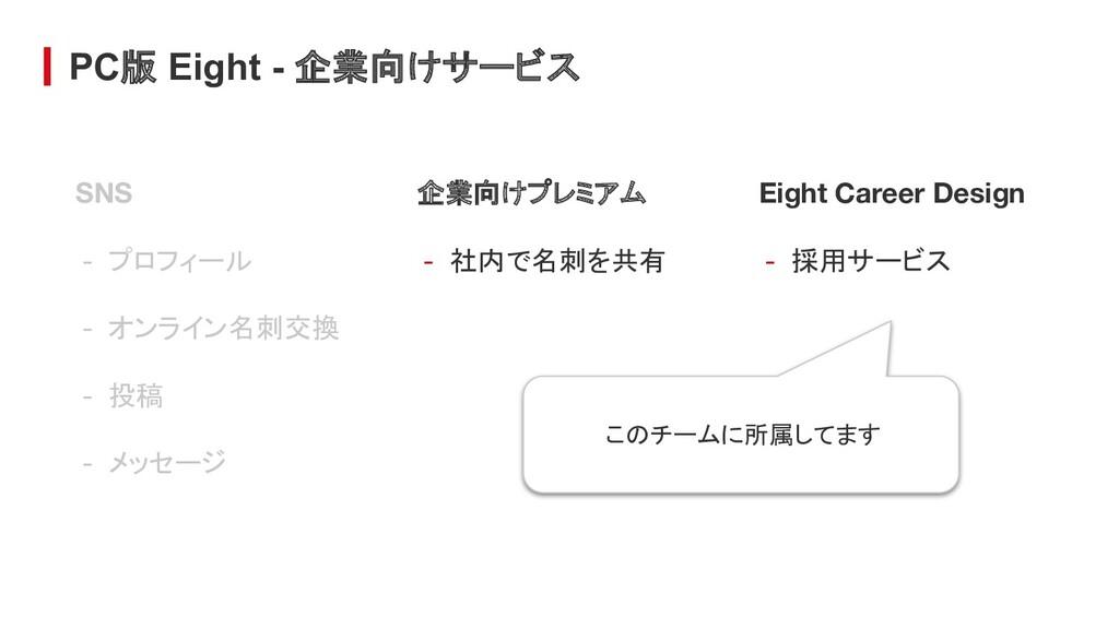 PC版 Eight - 企業向けサービス Eight Career Design - 採用サー...