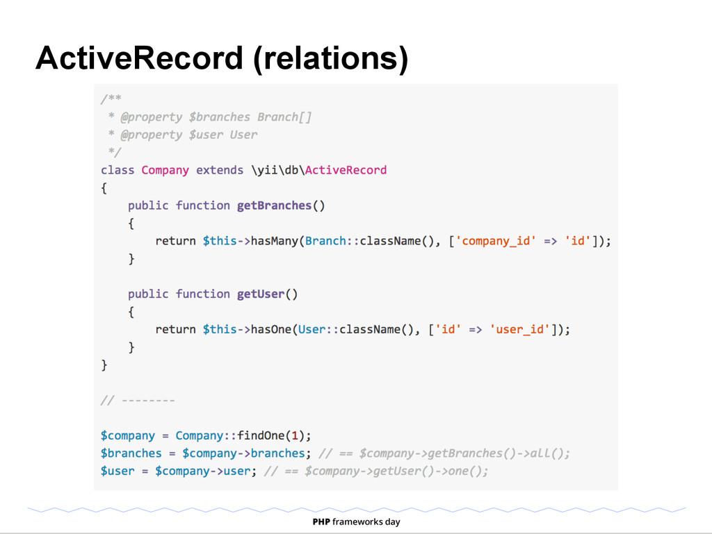 ActiveRecord (relations)