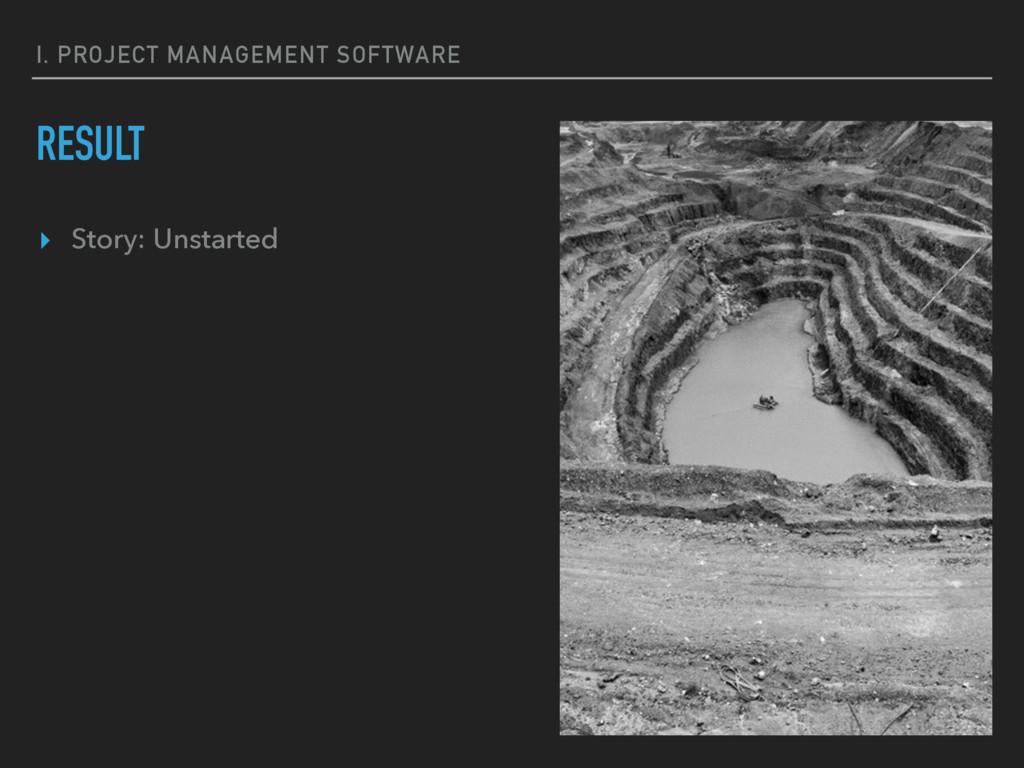 I. PROJECT MANAGEMENT SOFTWARE RESULT ▸ Story: ...