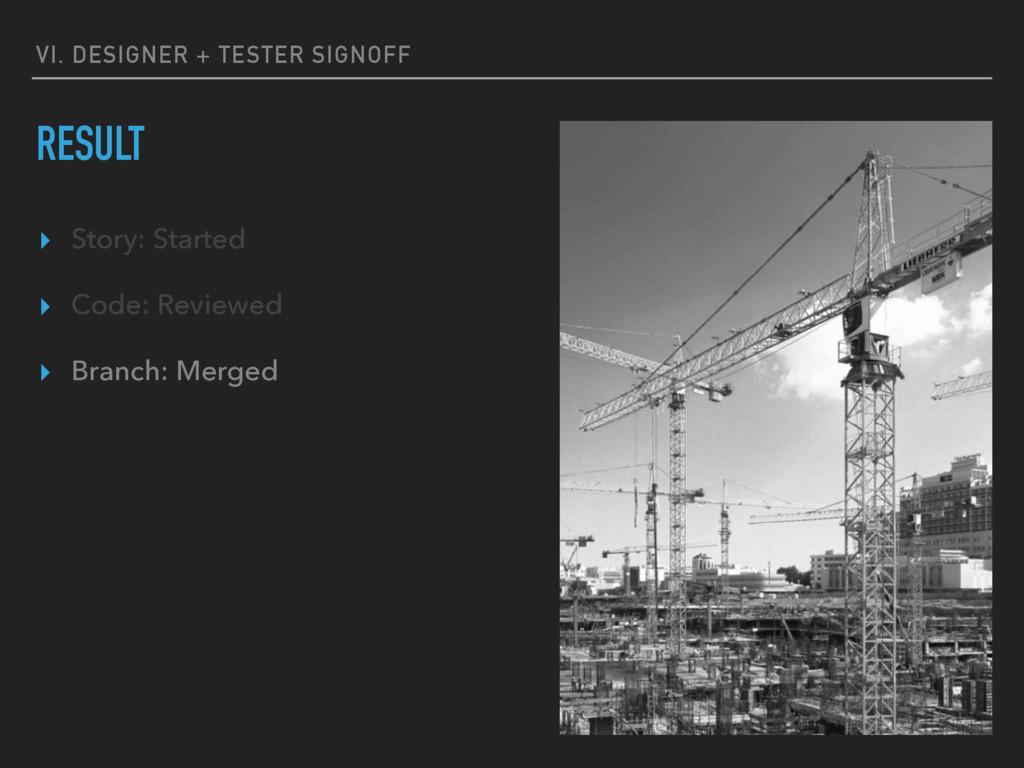 VI. DESIGNER + TESTER SIGNOFF RESULT ▸ Story: S...