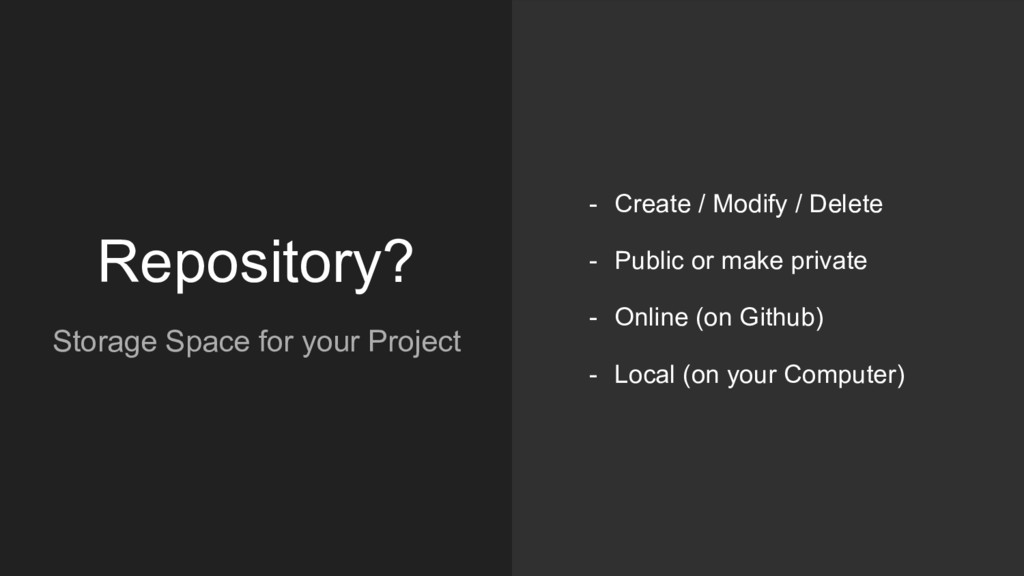 Repository? Storage Space for your Project - Cr...