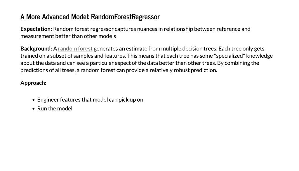 A More Ad anced Model: RandomFore Regre or E pe...