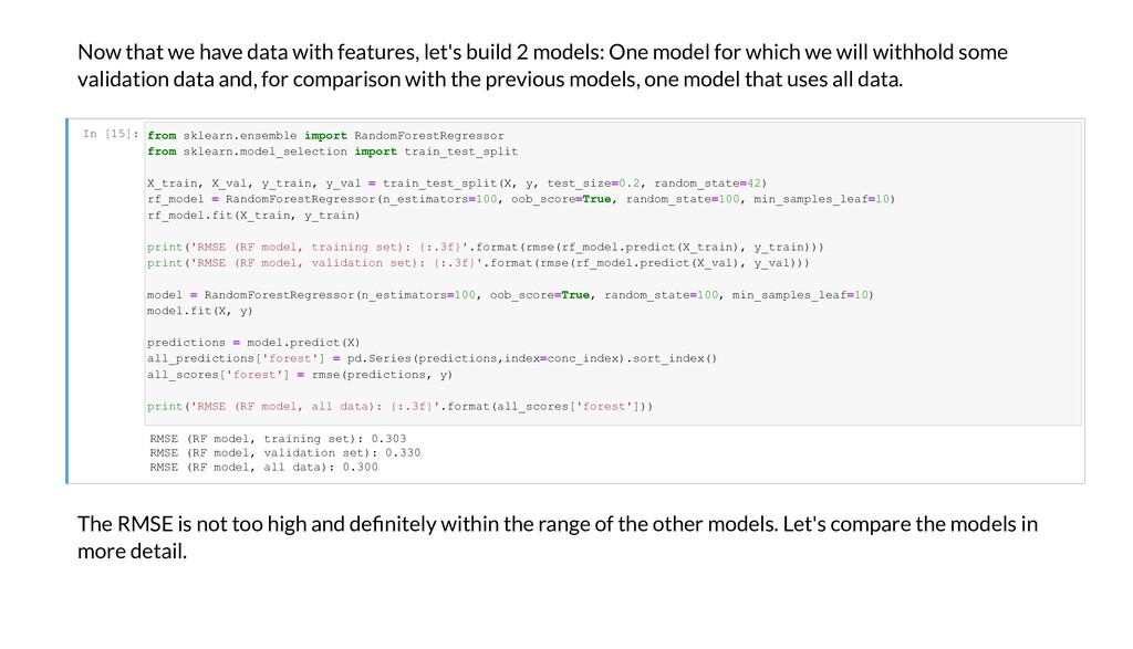 No that e ha e data ith features, let's build 2...