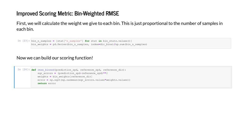 I ed Sc i g Me ic: Bi -Weigh ed RMSE Fi , e i c...