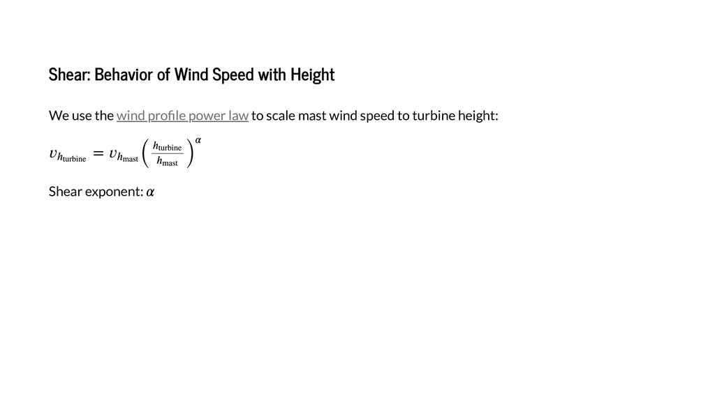 Shea : Beha io of Wind Speed i h Heigh We e he ...