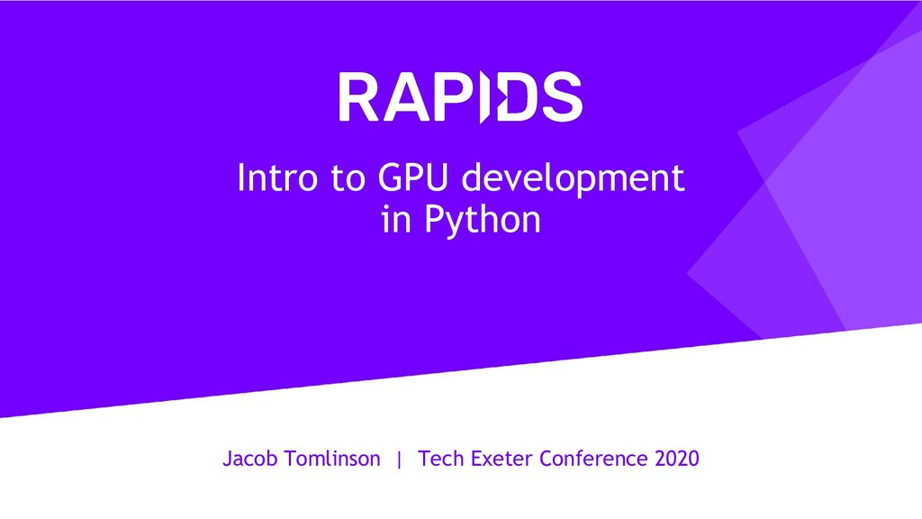 Jacob Tomlinson   Tech Exeter Conference 2020 I...