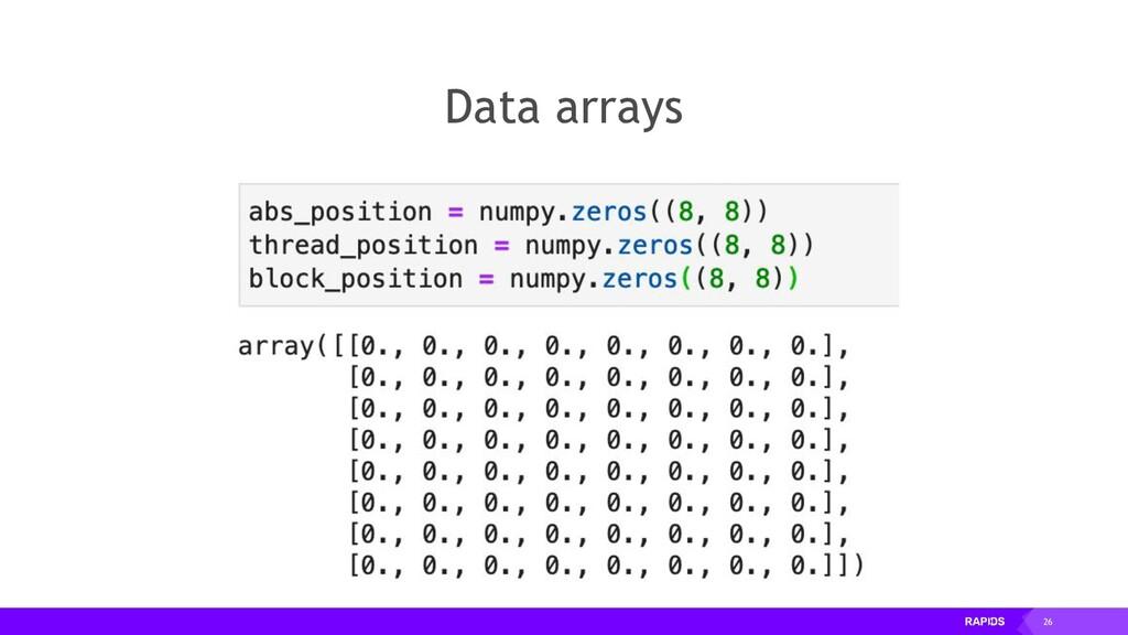 26 Data arrays