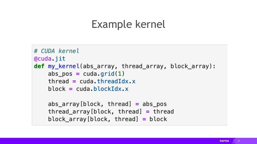 27 Example kernel