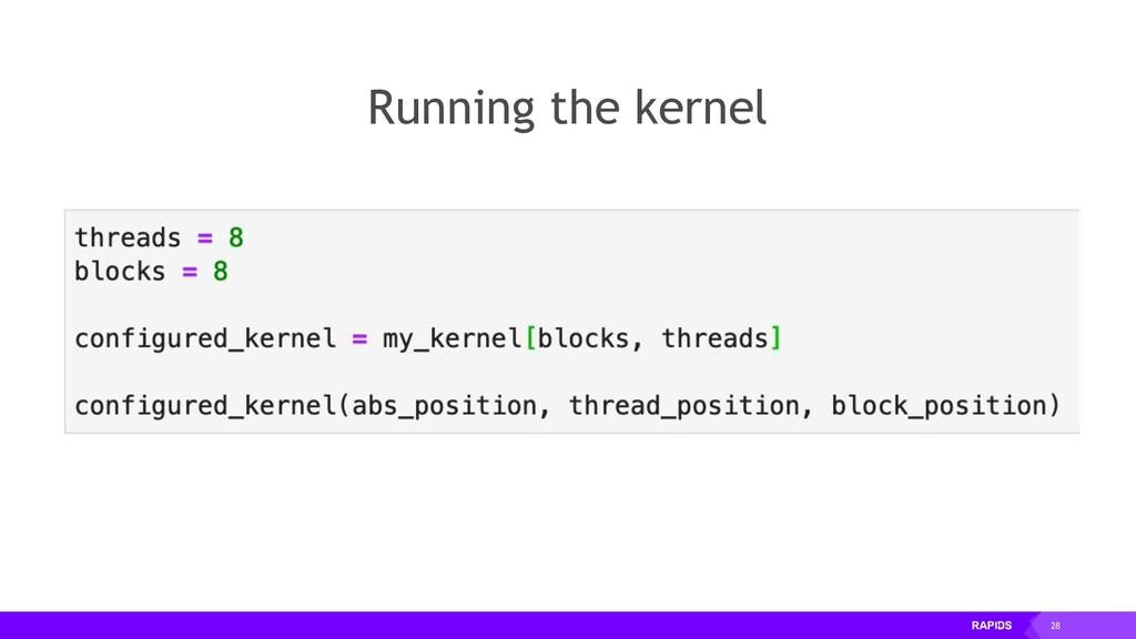 28 Running the kernel