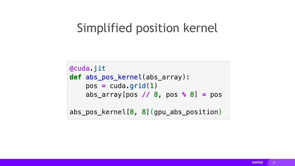 34 Simplified position kernel