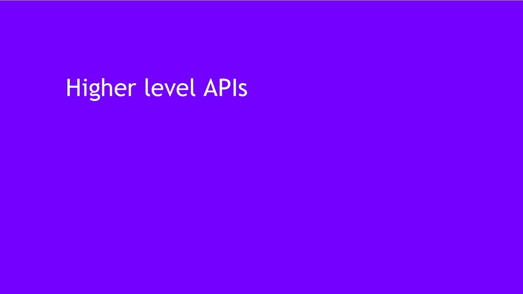 37 Higher level APIs