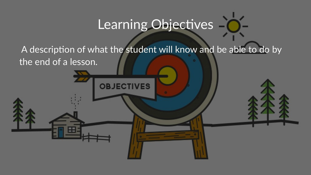 Learning Objec-ves A descrip*on of what the stu...