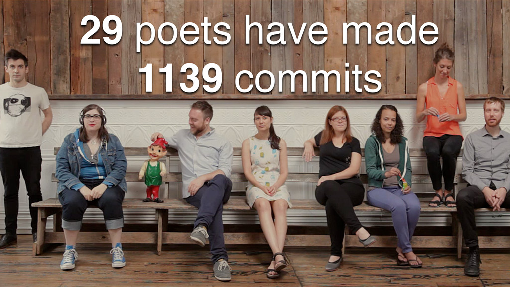 29 poets have made 1139 commits