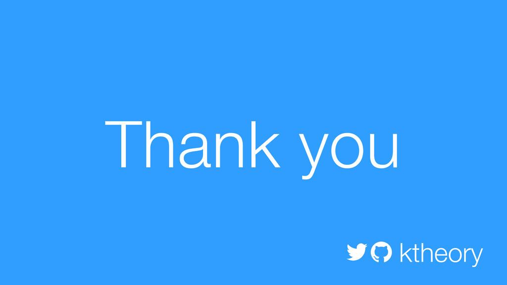 Thank you ktheory