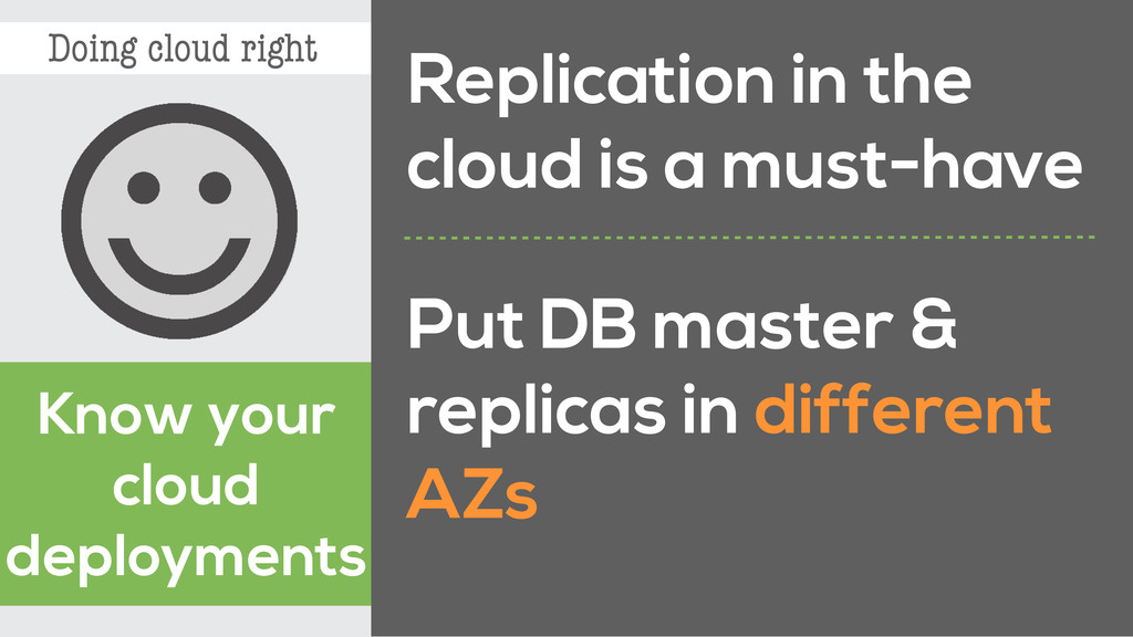 Doing cloud right Know your cloud deployments R...