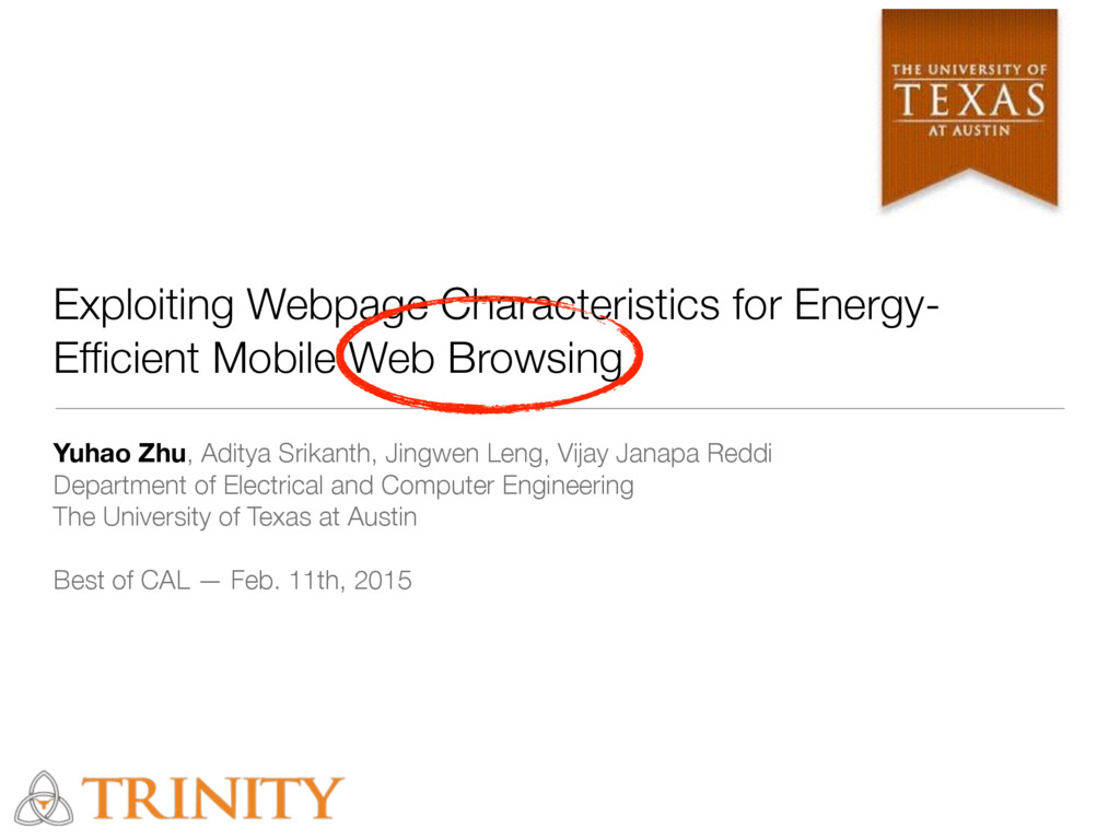 Exploiting Webpage Characteristics for Energy- ...