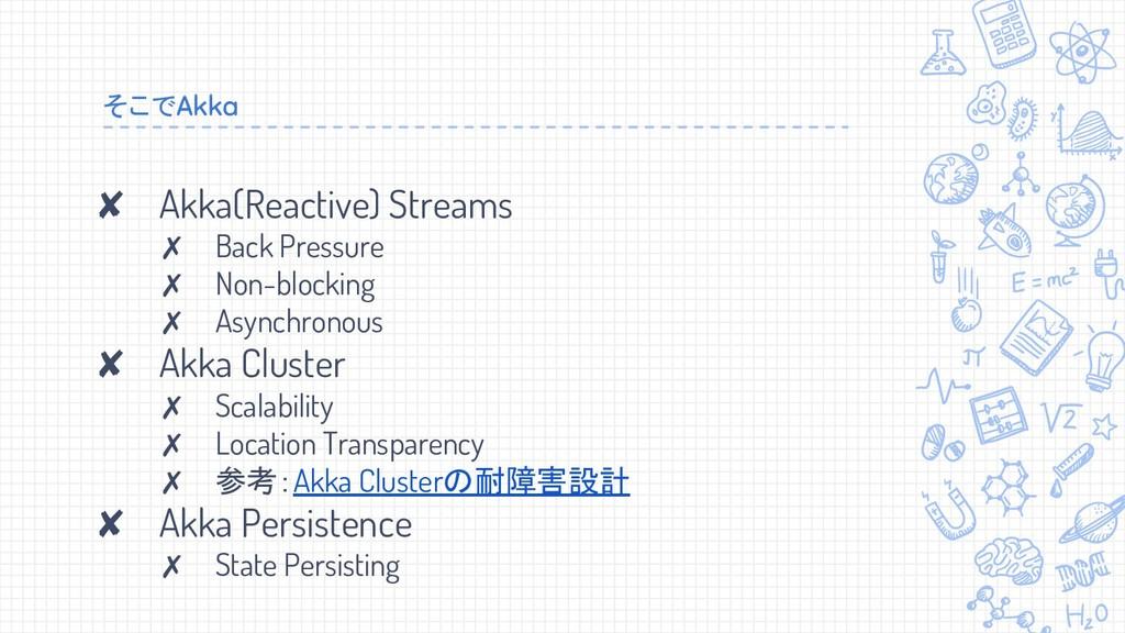 ✘ Akka(Reactive) Streams ✗ Back Pressure ✗ Non-...