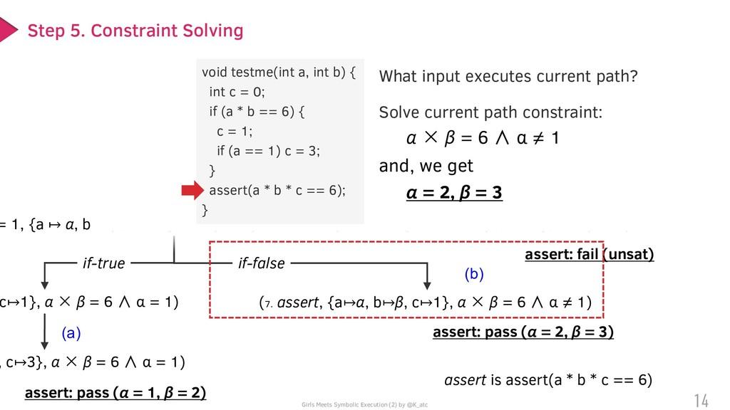 (o) (2. c = 0, {a ↦ α, b ↦ β}, true) = 1, {a ↦ ...
