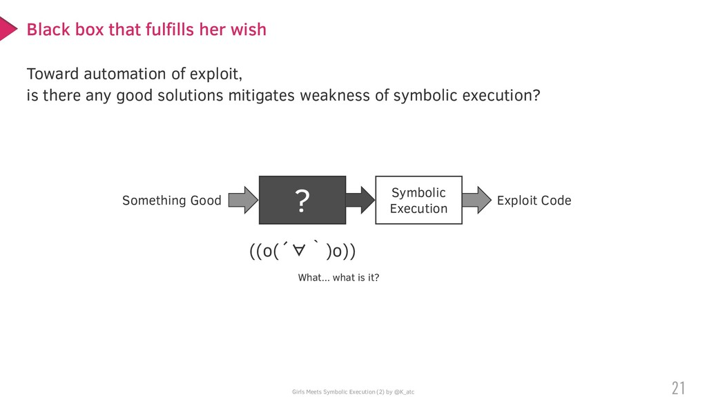 Girls Meets Symbolic Execution (2) by @K_atc To...