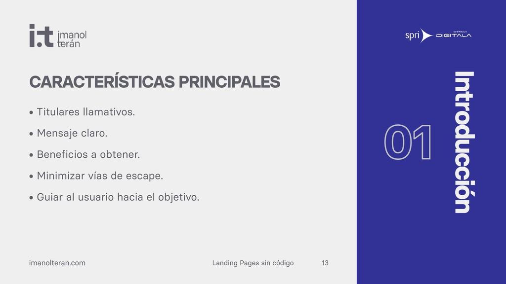Landing Pages sin código imanolteran.com • Titu...