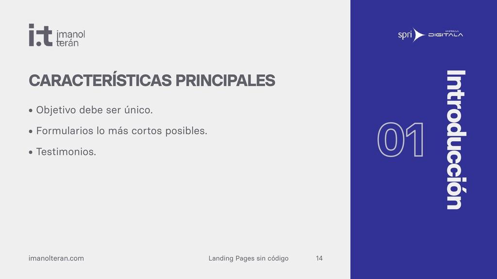 Landing Pages sin código imanolteran.com • Obje...