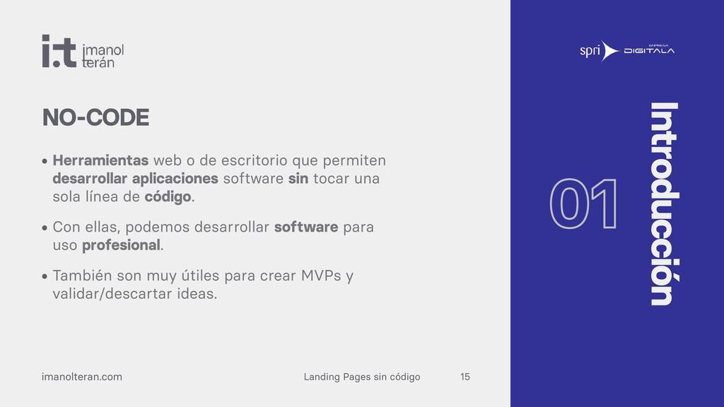 Landing Pages sin código imanolteran.com • Herr...