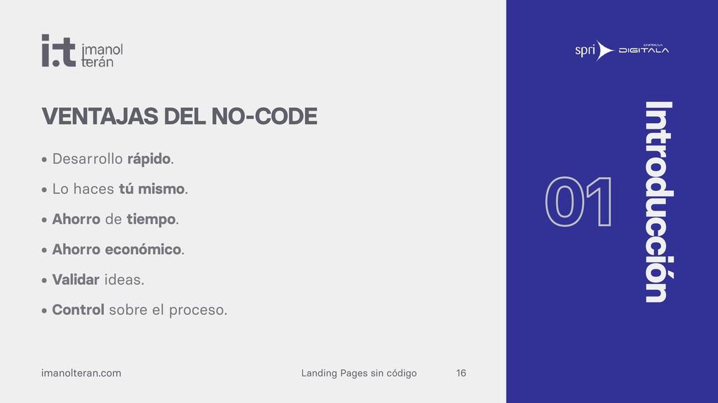 Landing Pages sin código imanolteran.com • Desa...