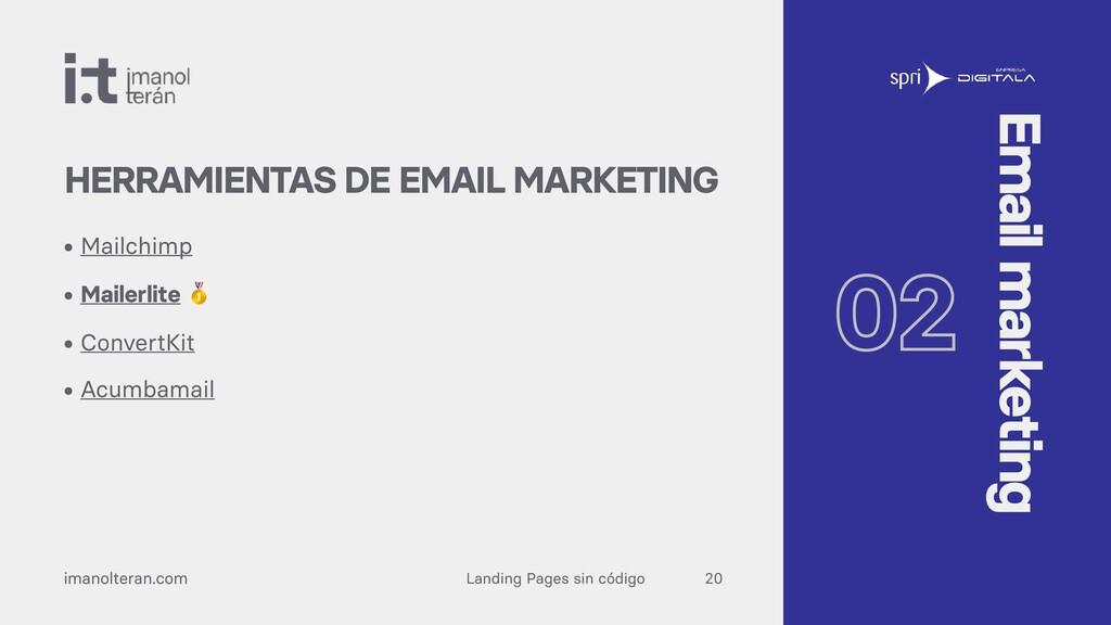 Landing Pages sin código imanolteran.com • Mail...