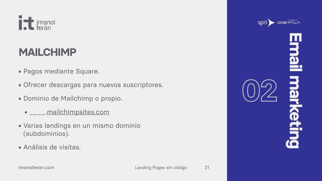 Landing Pages sin código imanolteran.com • Pago...