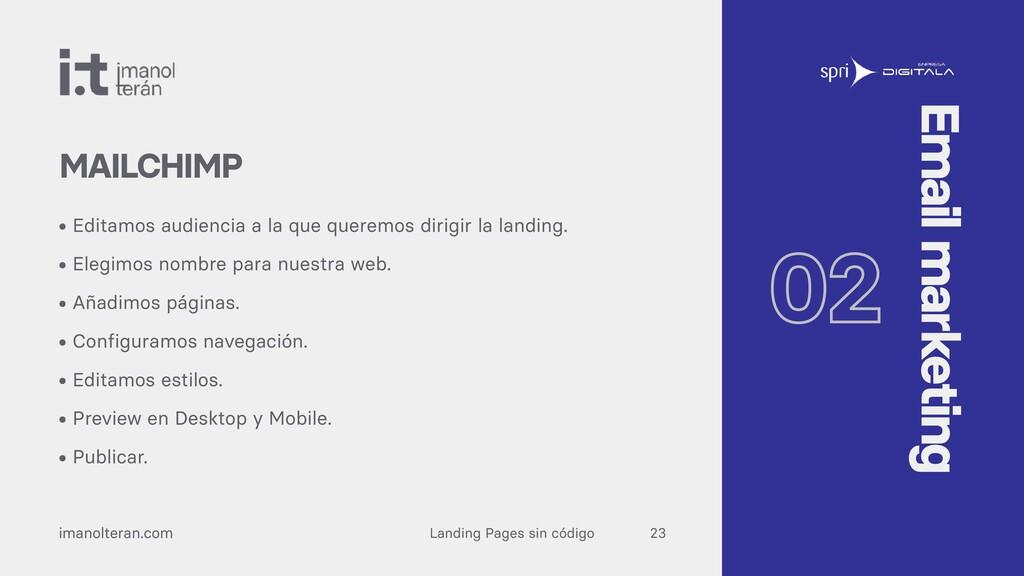 Landing Pages sin código imanolteran.com • Edit...