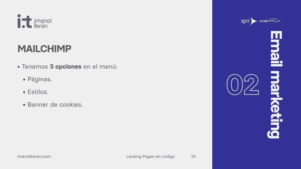 Landing Pages sin código imanolteran.com • Tene...