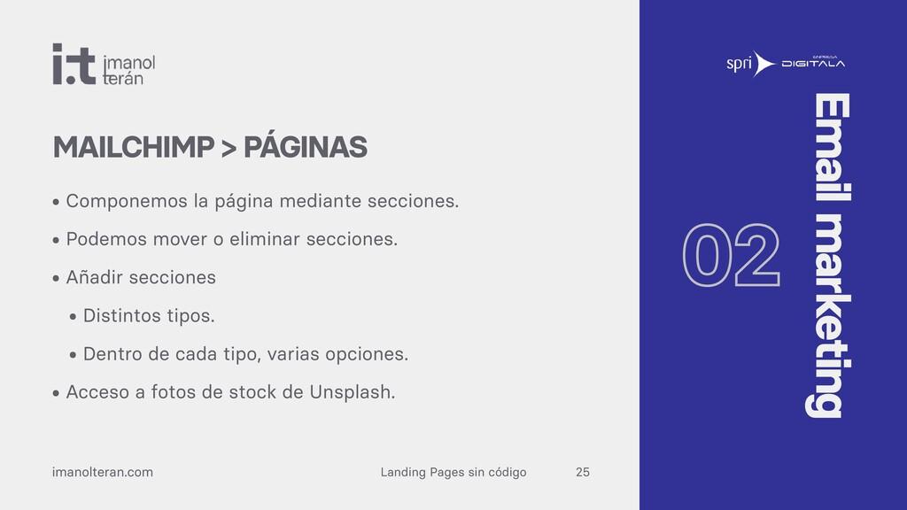 Landing Pages sin código imanolteran.com • Comp...
