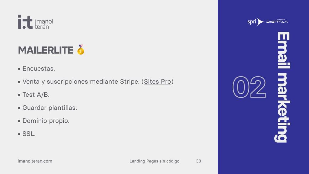 Landing Pages sin código imanolteran.com • Encu...