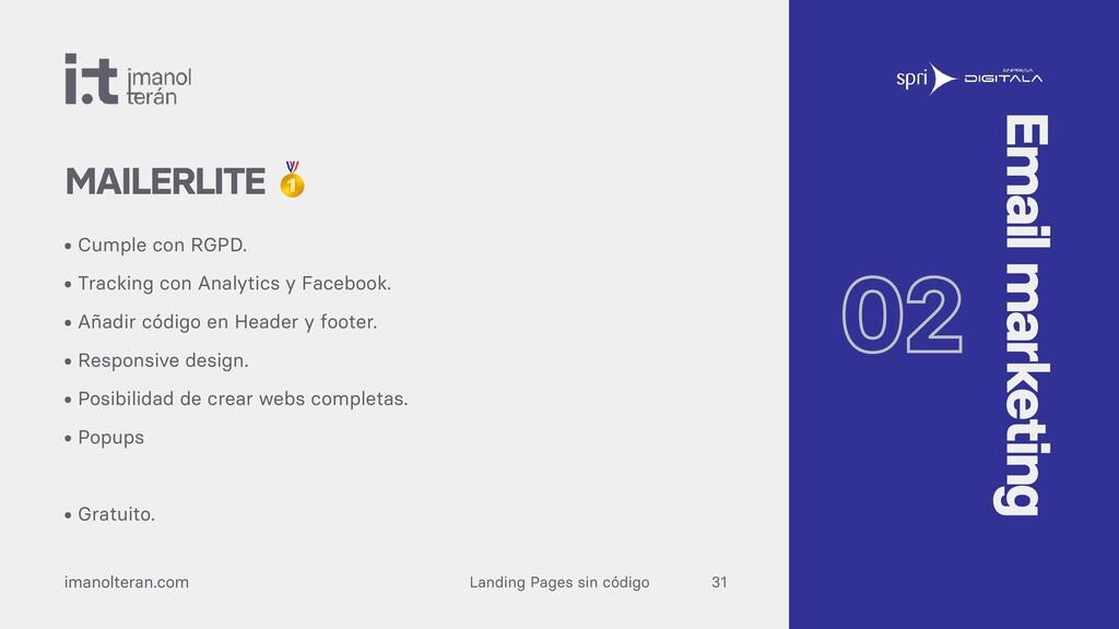 Landing Pages sin código imanolteran.com • Cump...