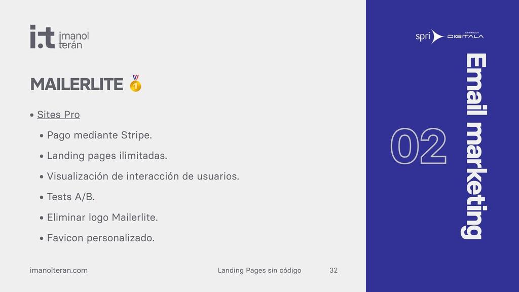 Landing Pages sin código imanolteran.com • Site...